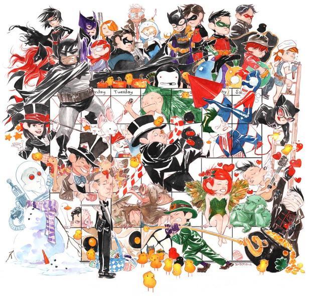 Dustin Nguyen's 'Li'l Gotham' artwork