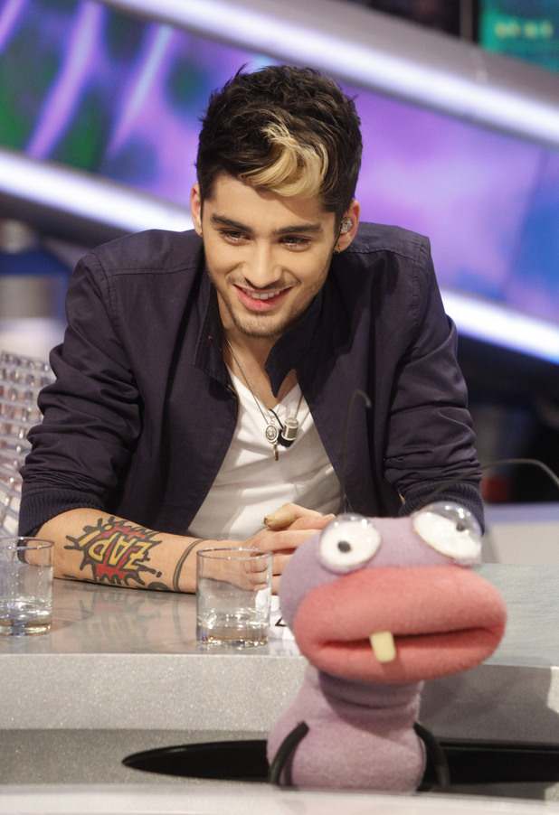 Zayn Malik One Direction appear on  'El Hormiguero' TV show at Vertice Studios Madrid, Spain