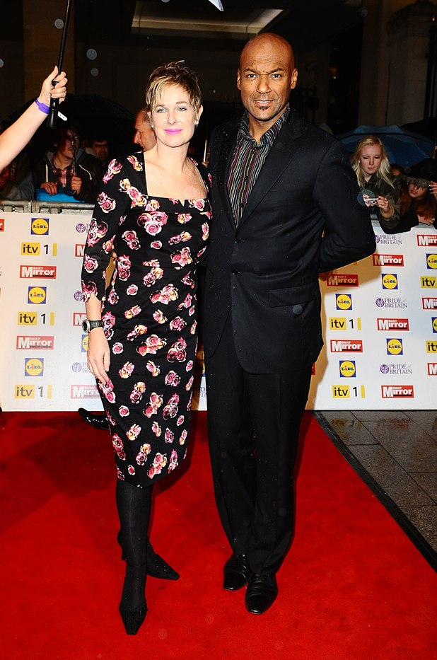 Colin Salmon and wife Fiona Hawthorne