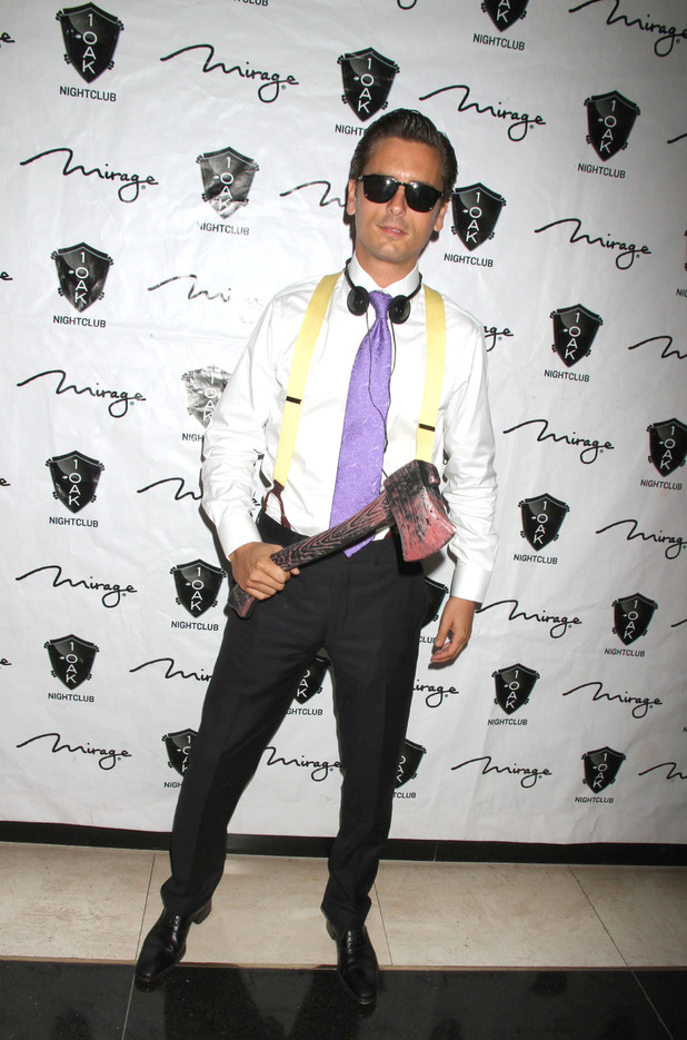 Scott Disick  hosts an 'American Psycho' themed Halloween Event