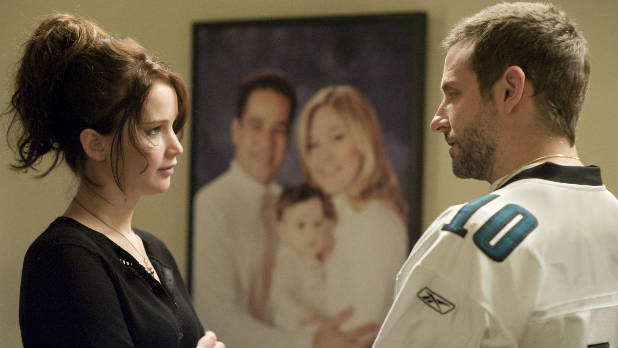 Bradley Cooper and Jennifer Lawrence star in &#39;Silver Linings Playbook&#39;.