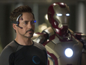 Robert Downey Jr's superhero film holds off The Great Gatsby in latest chart.
