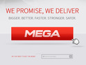 Kim Dotcom's new service will use the New Zealand-based domain Mega.co.nz.