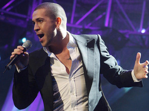 X Factor winner Shayne Ward performs at the ChildLine charity concert at Dublin's Point Depot.