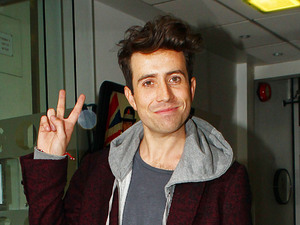 Nick Grimshaw outside the BBC Radio 1 studios, after his first morning as host of the new breakfast show London, England - 24.09.12 Mandatory Credit: WENN.com