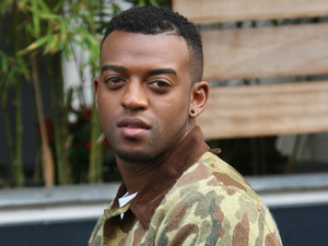 Oritse Williams of JLS outside the ITV studios London, England - 24.10.12 Mandatory Credit: WENN.com