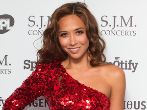 Myleene Klass, arrives at the 2012 Music Industry Trust Awards, at the Grosvenor House