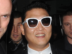 Park Jae-sang aka PSY leaves DSKRKT night club surrounded by security London, England