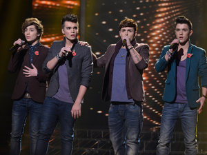 The X Factor Results Show: Union J sing for survival.