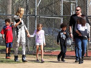 Heidi Klum and her children with Klum's new boyfriend Martin Kristen