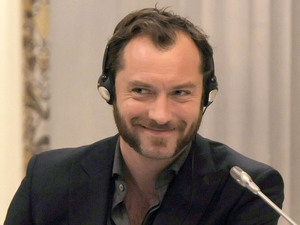 Jude Law at the press conference for 'Rise of the Guardians' at the 7th Rome International Film Festival.