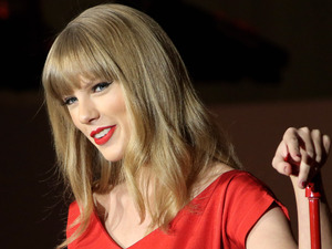 Taylor Swift switches on the Christmas lights at Westfield shopping centre London, England - 06.11.12 Mandatory Credit: Lia Toby/WENN.com