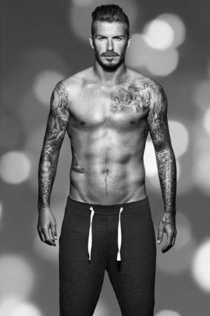 David Beckham models Christmas H&M bodywear range,