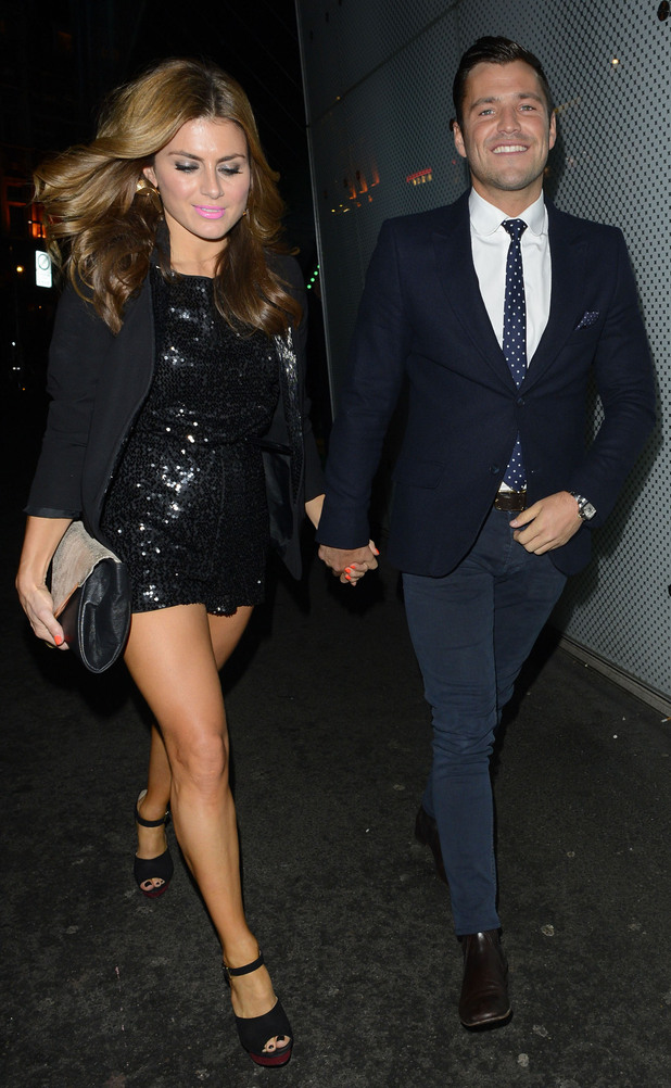 Celebrities attend an ITV2 dinner party at the W Hotel in London: Mark Wright and Zoe Hardman