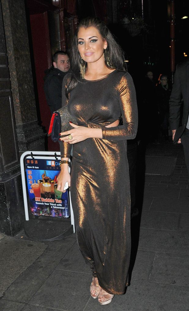 Celebrities attend an ITV2 dinner party at the W Hotel in London: Jessica Wright