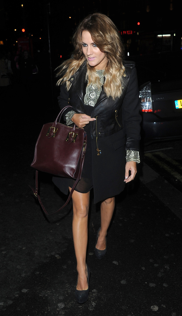 Celebrities attend an ITV2 dinner party at the W Hotel in London: Caroline Flack