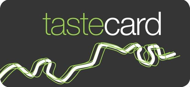 Tastecard logo for Reveal promo box