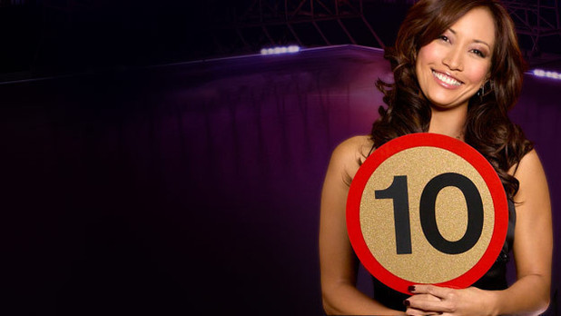 Dancing with the Stars: Carrie Ann Inaba with '10' paddle