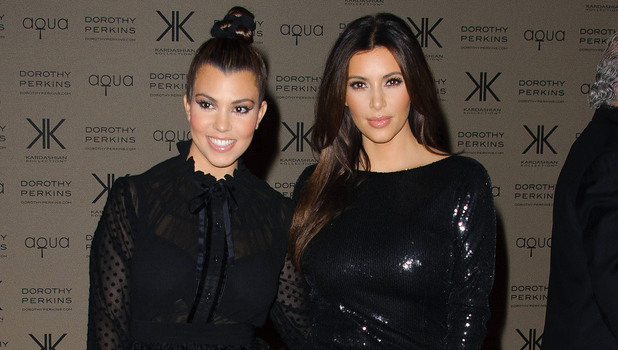 Kourtney Kardashian and Kim Kardashian Kardashian Kollection for Dorothy Perkins launch party at Aqua - Arrivals. London, England - 08.11.12 Mandatory Credit: WENN.com
