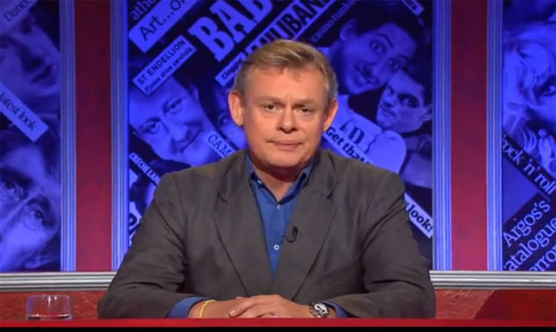 Martin Clunes presenting Have I Got News for You