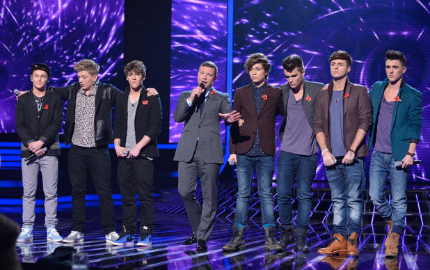 The X Factor Results Show: District 3 and Union J wait for the judges decision.