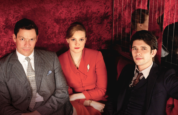The Hour: Hector Madden (DOMINIC WEST), Bel Rowley (ROMOLA GARAI), Freddie Lyon (BEN WHISHAW)