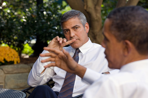 Barack Obama and George Clooney