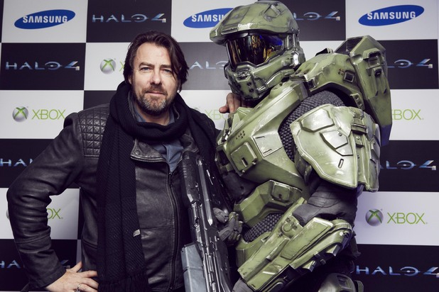 Jonathan Ross meets the Master Chief at the Halo 4 launch event