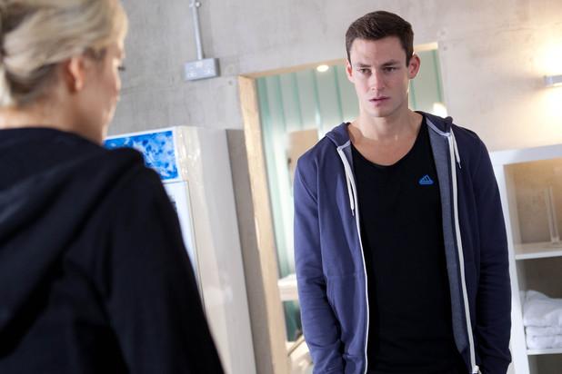 Liam sees Carmel's scar.