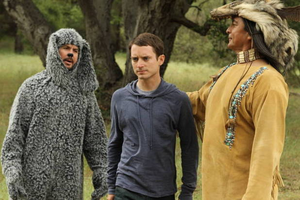 Jason Gann and Elijah Wood in 'Wilfred'