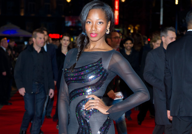 Jamelia attending the premiere of Gambit, at the Empire cinema in Leicester Square, London