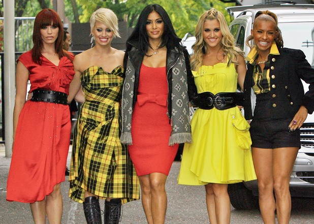 Jessica Sutta, Kimberly Wyatt, Nicole Scherzinger, Ashley Roberts, Melody Thornton The Pussycat Dolls leaving GMTV Studios