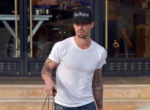 Adam Levine out and about in New York.