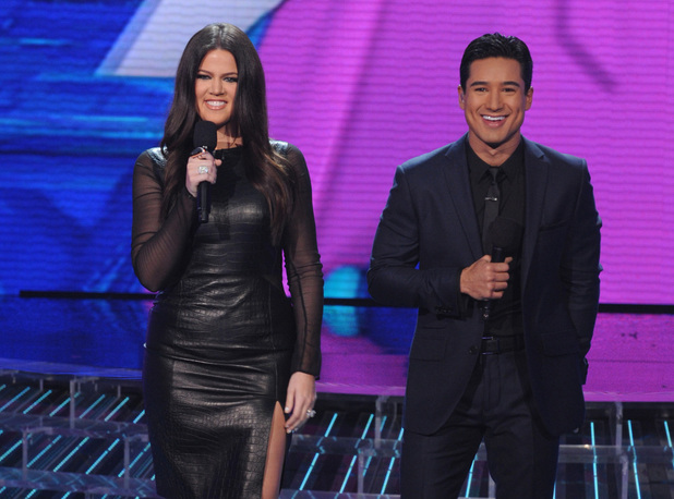 The X Factor USA, Nov 7 - Hosts Khloe Kardashian and Mario Lopez