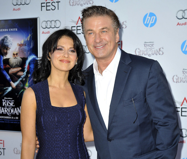 Hilaria Thomas and Alec Baldwin AFI Fest - 'The Rise Of The Guardians' - Premiere - Arrivals Los Angeles, California