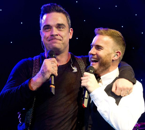 Gary Barlow and Robbie Williams, Music Industry Trust dinner, November 5 2012