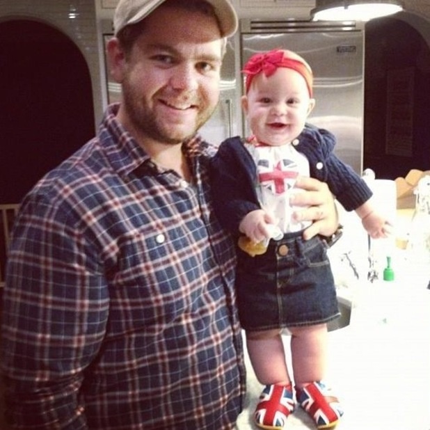 Jack Osbourne with daughter Pearl 08.11.12