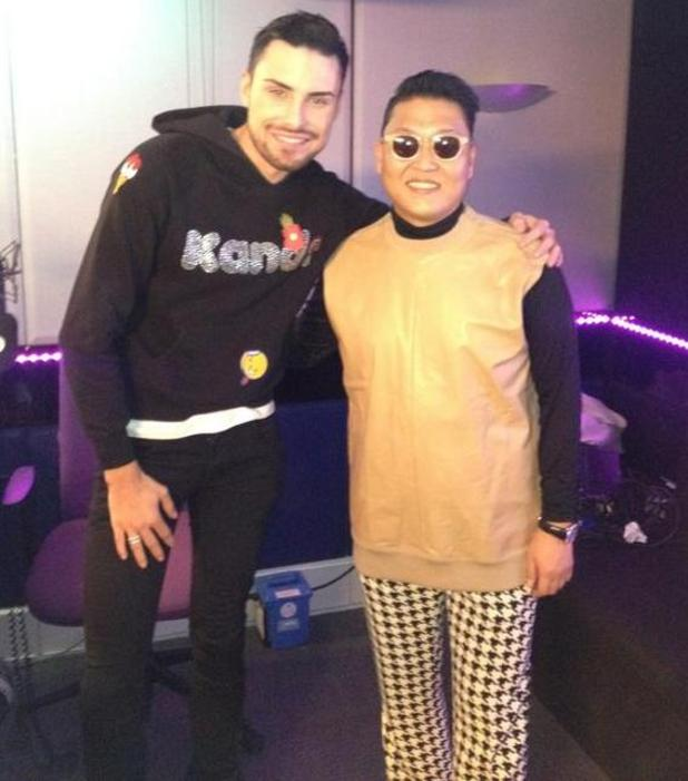 Rylan Clark with Psy