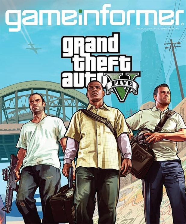 Grand Theft Auto Five Game Informer poster