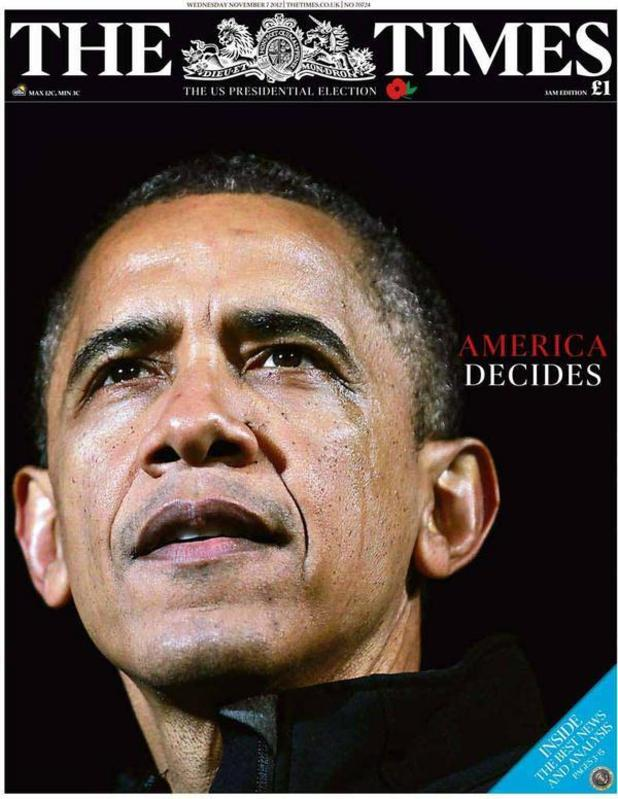 Obama re-election: Newspaper front pages