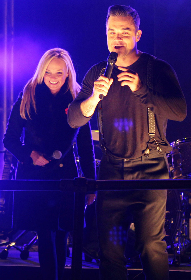 Robbie Williams and Emma Bunton