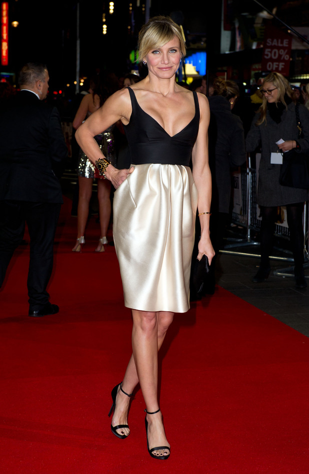 Cameron Diaz attending the premiere of Gambit, at the Empire cinema in Leicester Square, London