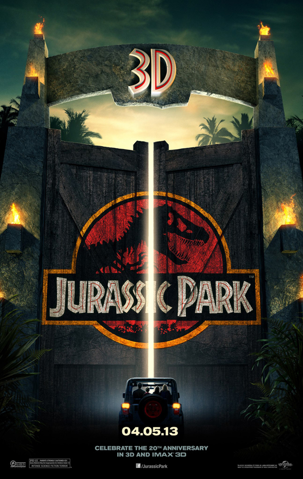 Jurassic Park 3D poster