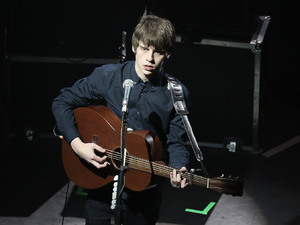Jake Bugg performing live on stage at KOKO in London