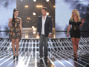 LA Reid, Demi Lovato, Simon Cowell and Britney Spears on 'X Factor' USA top 12