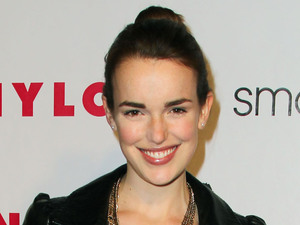 Elizabeth Henstridge at the Nylon Magazine 13th Anniversary Issue celebration at Smashbox Studios, Los Angeles, America