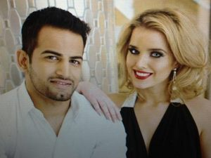 Upen Patel and Helen Flanagan