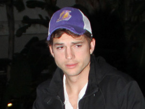 Ashton Kutcher arriving at the Staples Centre to watch the LA Lakers Los Angeles, California, USA - 25.03.12 Mandatory Credit: Ryan Fu/WENN.com