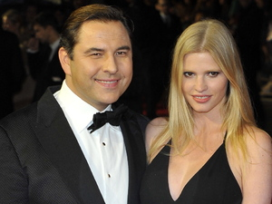David Walliams and Lara Stone 56th BFI London Film Festival: Great Expectations - closing film held at the Odeon West End - Arrivals London, England - 21.10.12