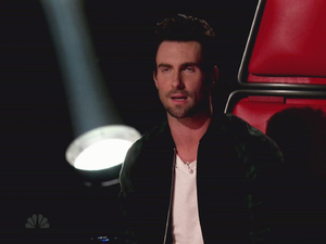 Adam Levine NBC's 'The Voice' Season 3, Episode 21 The Vocalists face elimination; Cee Lo Green and Christina Aguilera perform USA - 13.11.12 Supplied by WENN.comWENN does not claim any ownership including but not limited to Copyright or License in the attached material. Any downloading fees charged by WENN are for WENN's services only, and do not, nor are they intended to, convey to the user any ownership of Copyright or License in the material. By publishing this material you expressly agree to indemnify and to hold WENN and its directors, shareholders and employees harmless from any loss, claims, damages, demands, expenses (including legal fees), or any causes of action or  allegation against WENN arising out of or connected in any way with publication of the material.